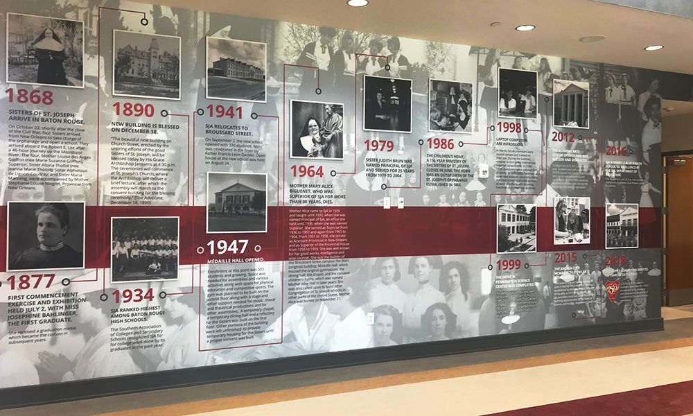 RETAIL GRAPHICS St. Joseph Academy Wall Timeline