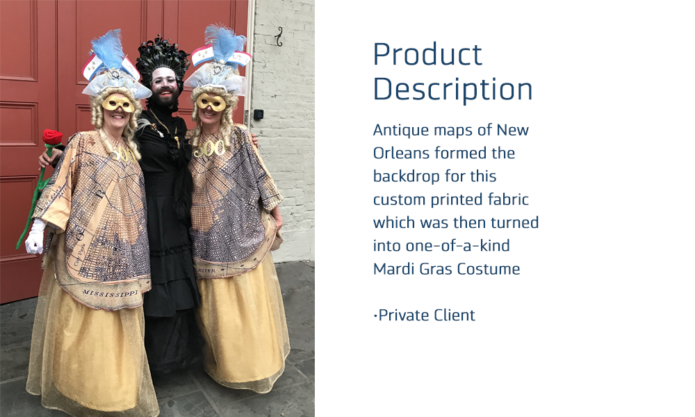 CUSTOM FABRIC - Mardi Gras Costumes