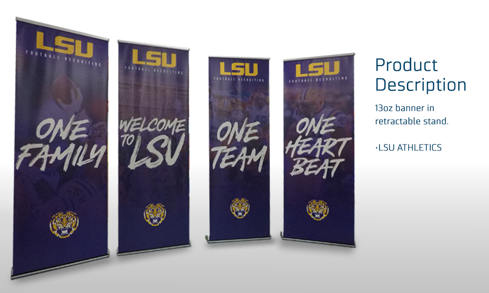 LSU 13 FOOTBALL BANNERS