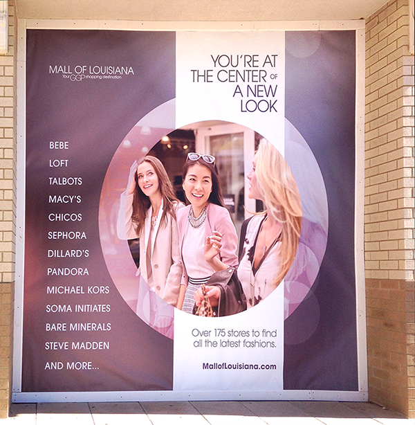 RETAIL GRAPHICS Outdoor Fasion Banner