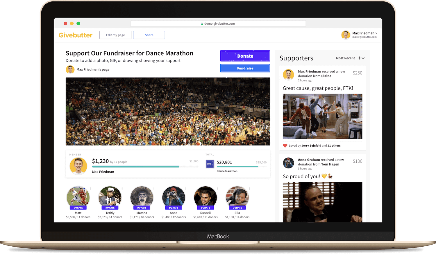 Fundraise Product Demo