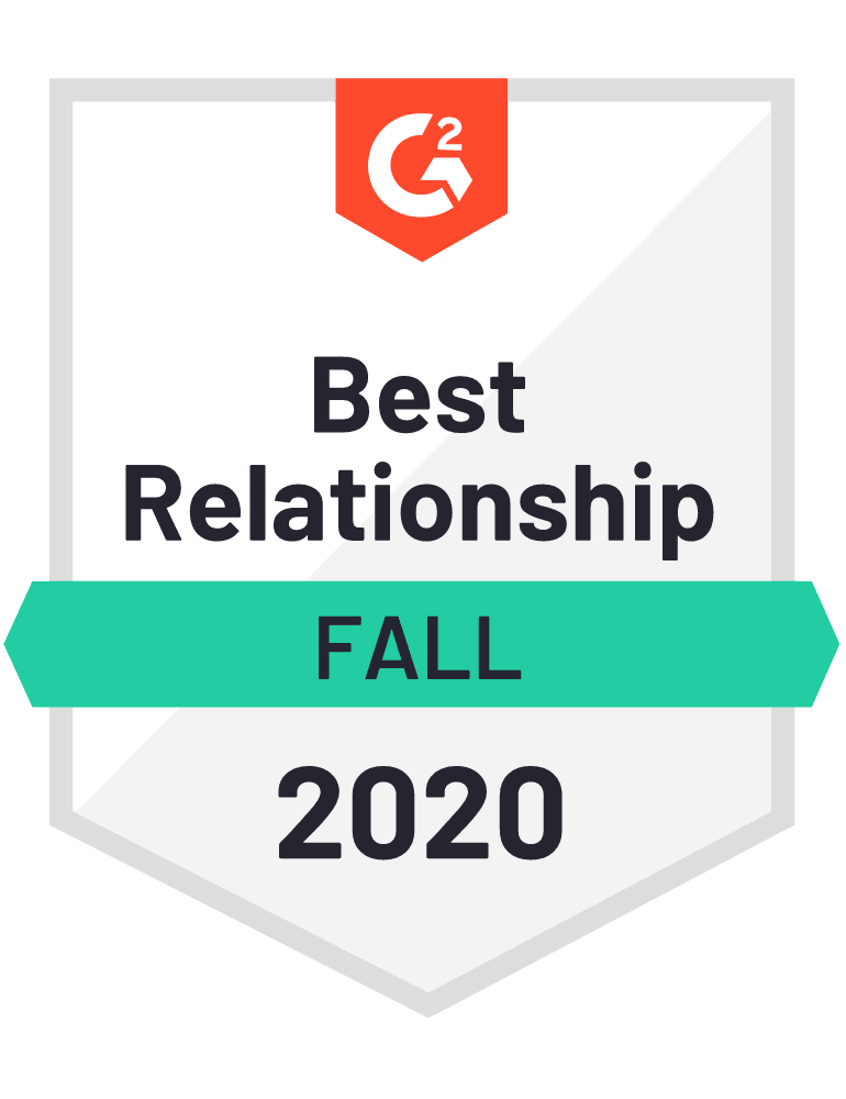 Givebutter: Best Relationship Badge - G2 Fall 2020