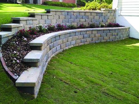 Tiered Retaining Wall