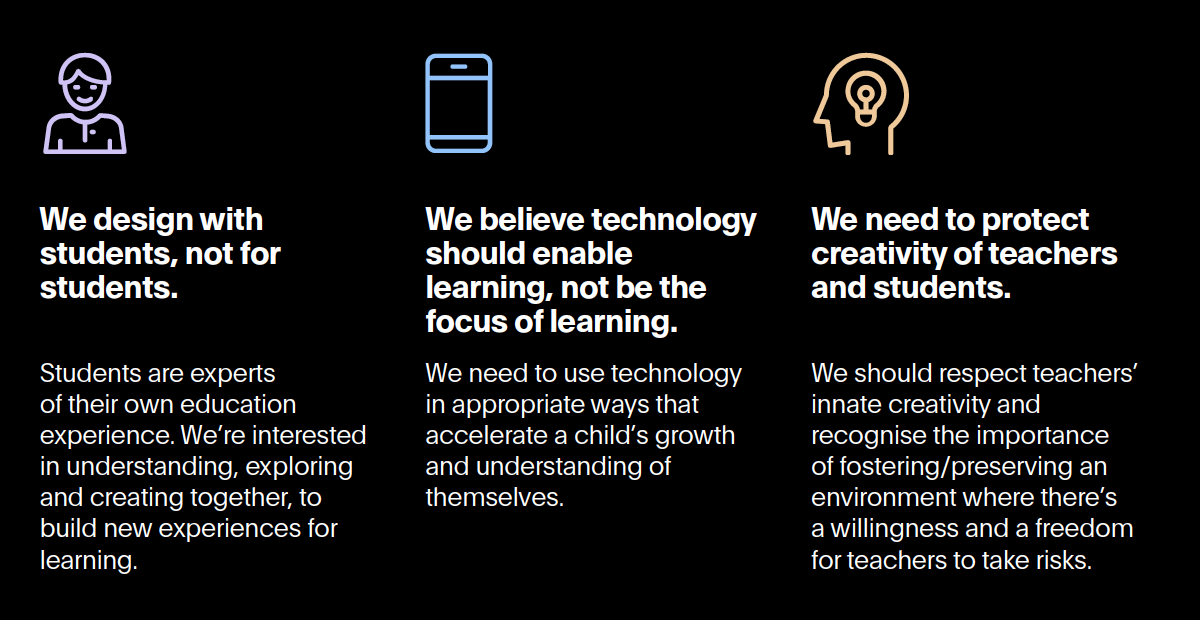 Second three principles from our education report