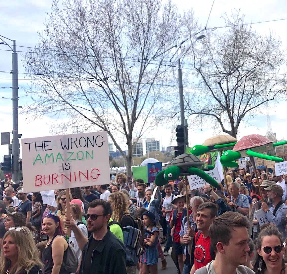 Photo from the Melbourne Climate Strike