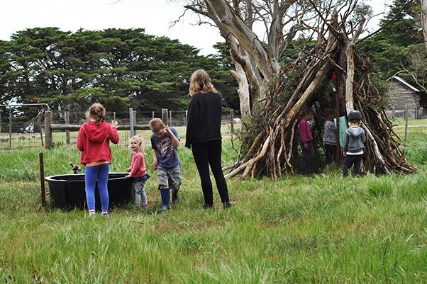Church camp teepee
