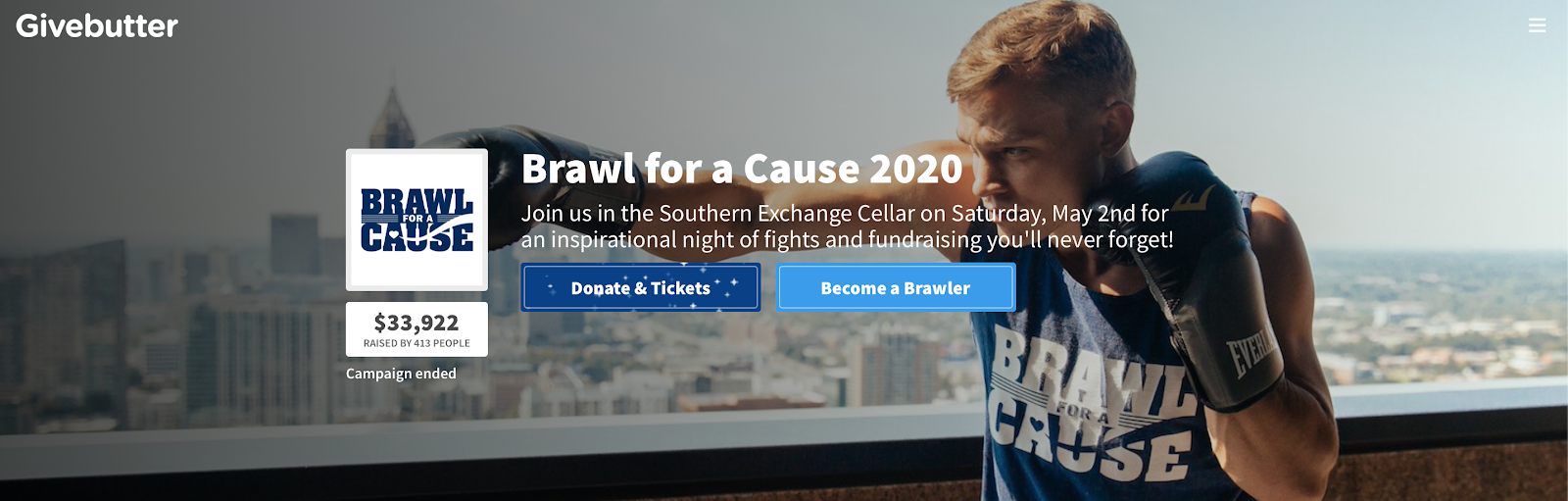 Givebutter Brawl for a Cause 2020