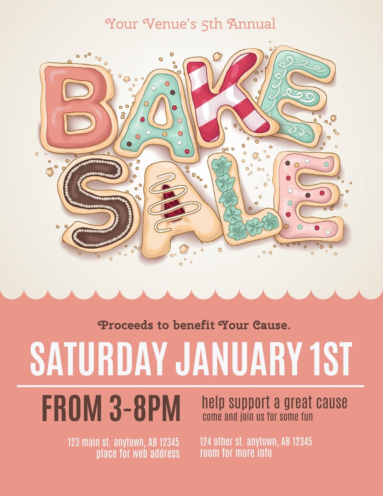 Fundraising flyer ideas: Bake Sale flyer template