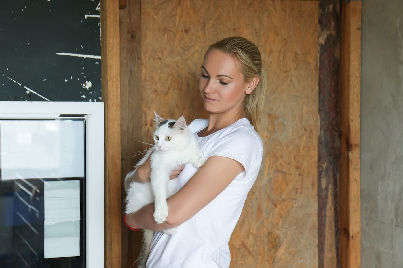 fundraising ideas for animal shelters: Woman holding a cat