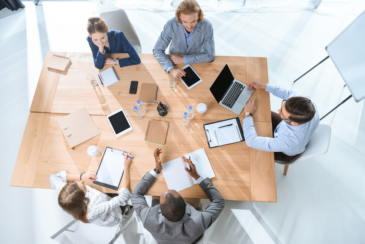 CRM for nonprofits: Group of people having a meeting
