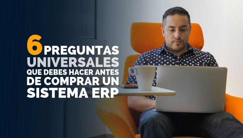 Imagen de un hombre con un computador haciendo referencia a cuestionamientos que tiene.