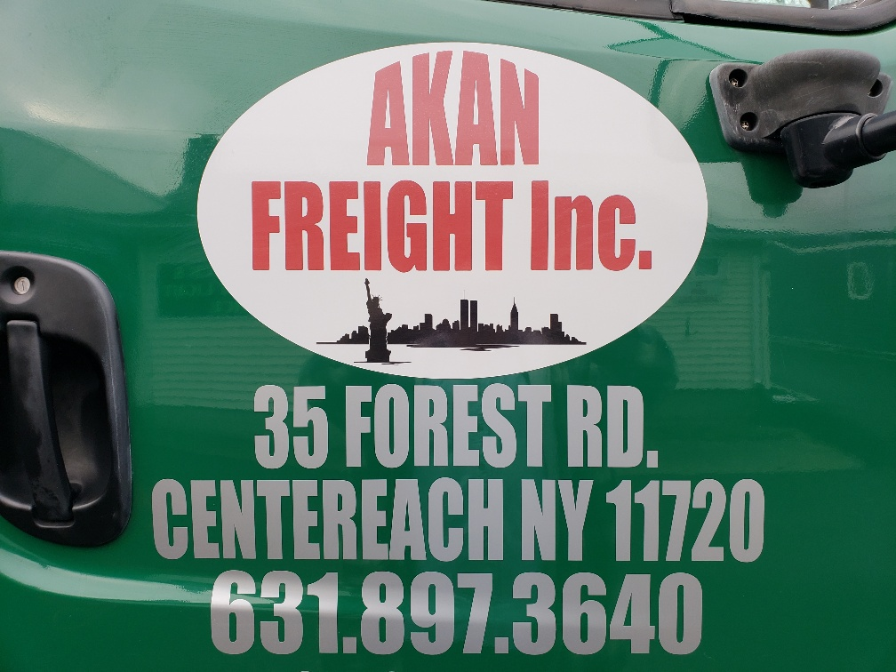 Custom Door Graphics and Lettering with DOT Numbers