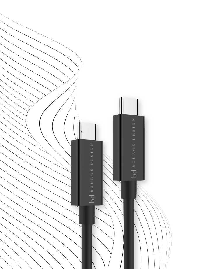 Photo of Thunderbolt 3 compatible 1 meter USB-C Cable with power and data and is capable of handling 85W