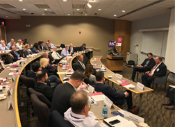 Mike Dektas speaking at Business Advisory Council