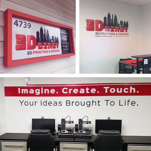 3D Cincy environmental graphics
