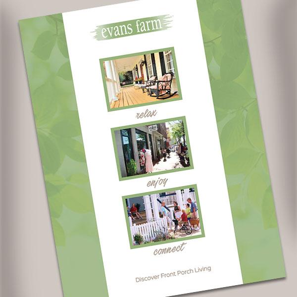 Evans Farm Living brochure  cover