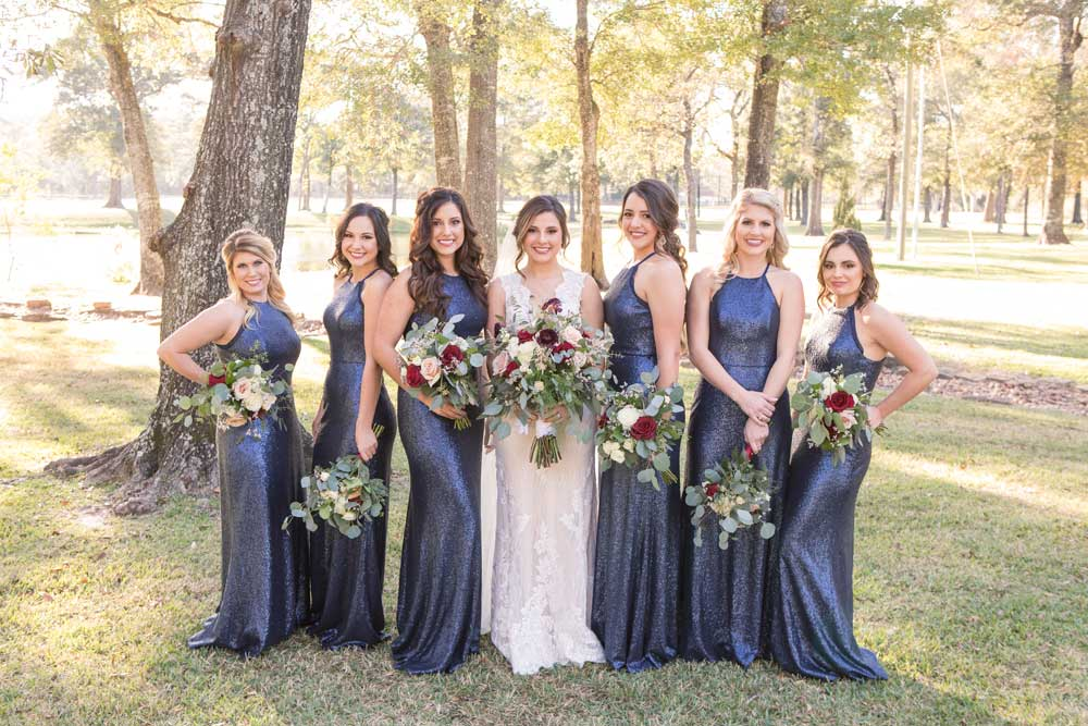 The beautiful bridal party for Hannah & Josh
