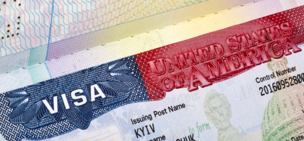 photo of a US visa