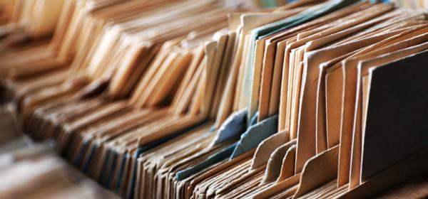 a row of file folders