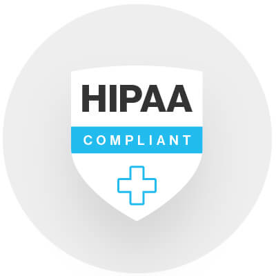 We go beyond mere HIPAA compliance. Illustration.