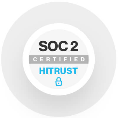 SOC2 and HITRUST certified. Illustration.