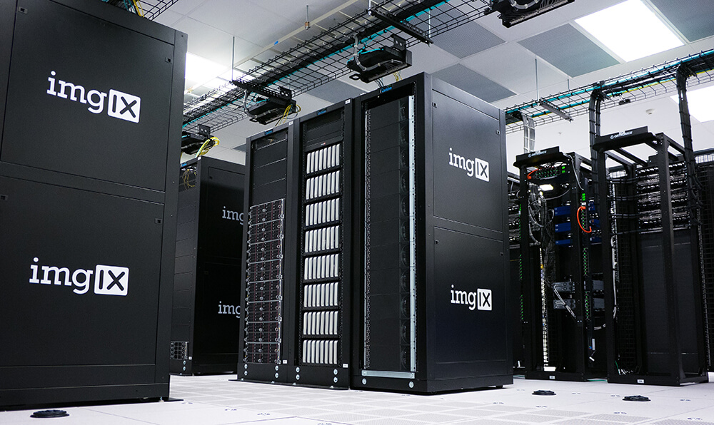 Large server room filled with machines.