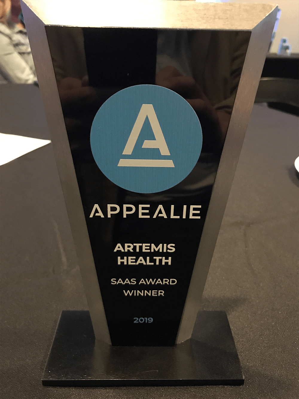 Artemis APPEALIE SaaS award trophy