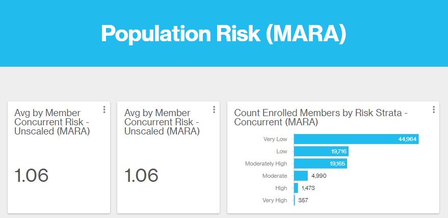 Risk strata chart showing member risk scores.