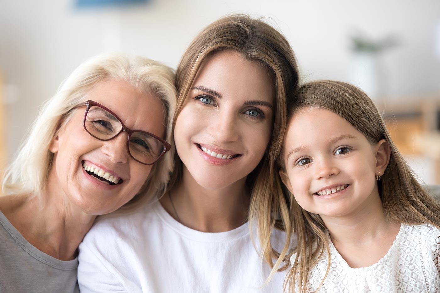 3 generations of women.