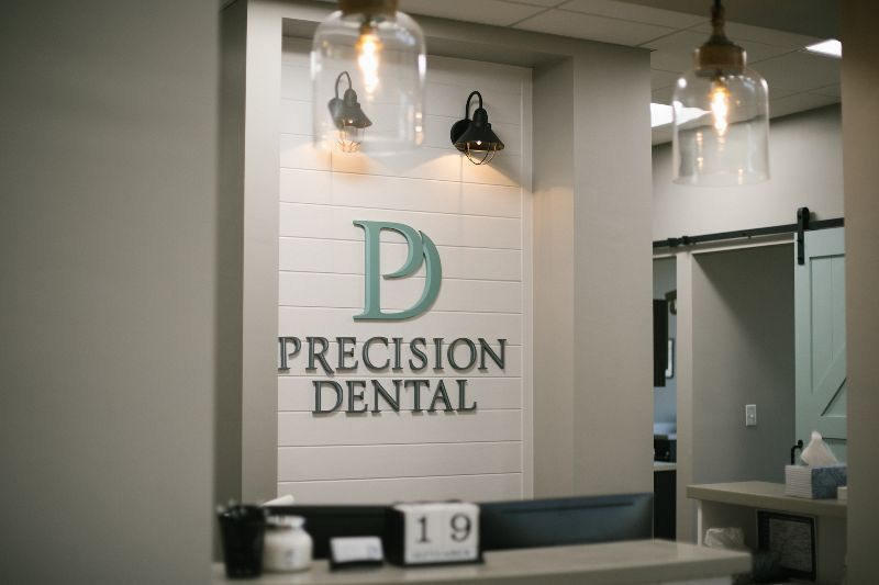 Precision Dental Front Desk view