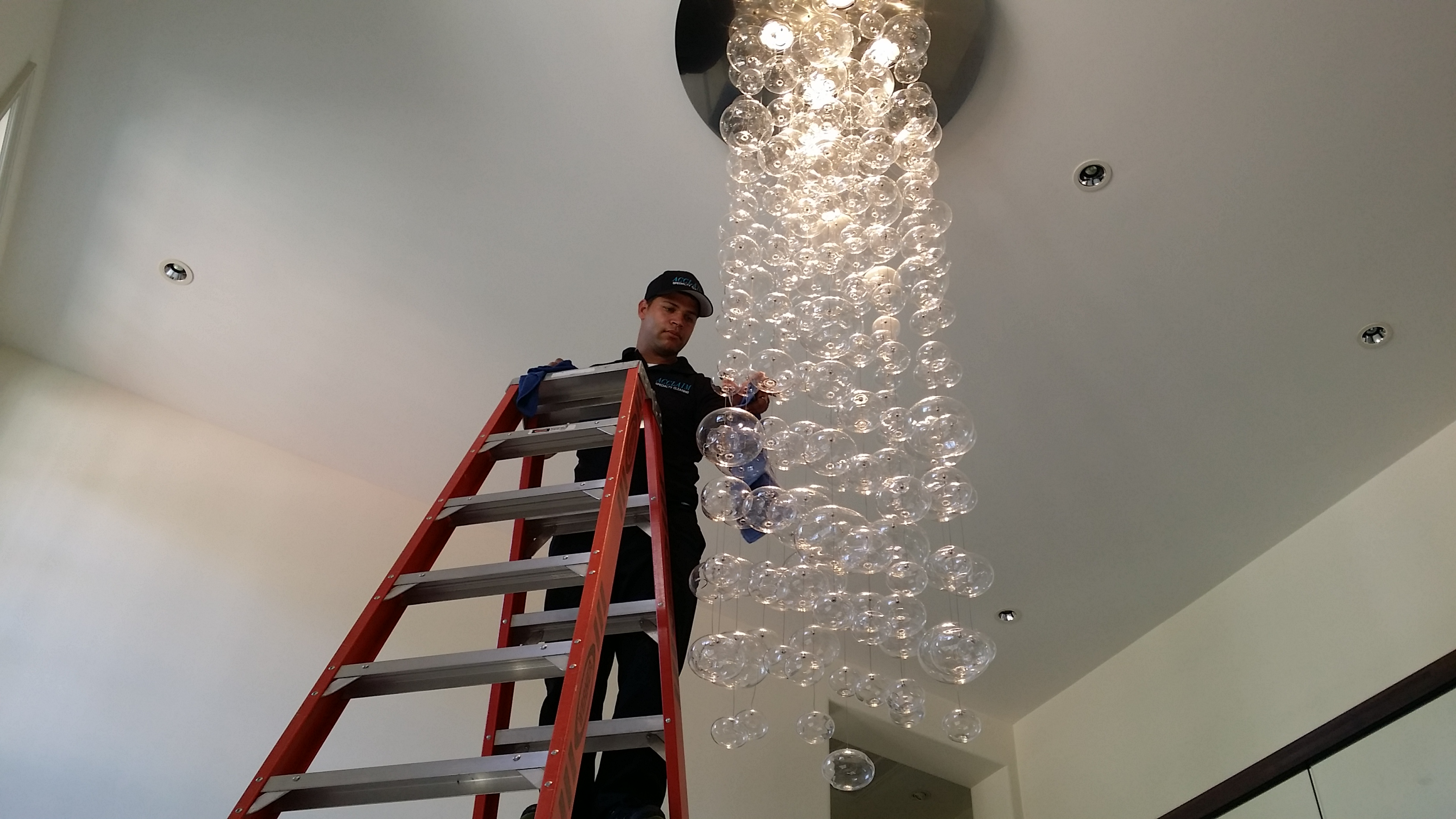 Bubble Chandelier Cleaning