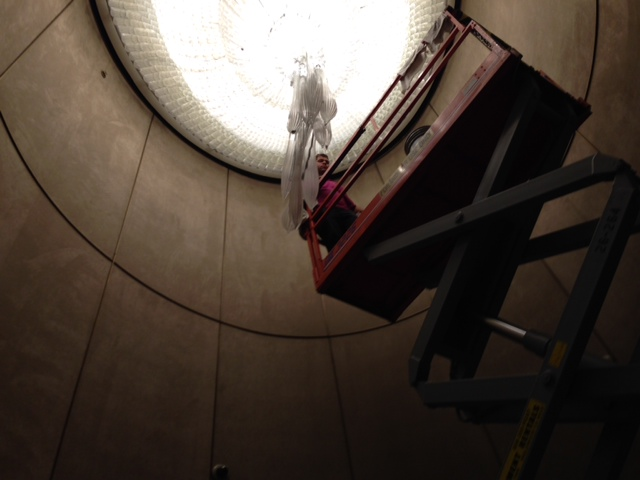 High Lift Chandelier Work