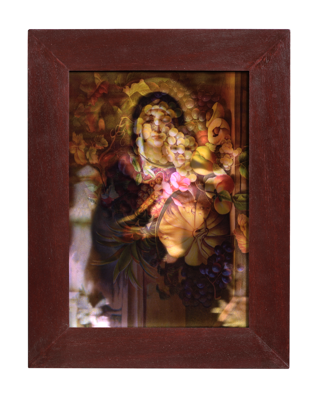 Lenticular Mary and Fruit Lightbox