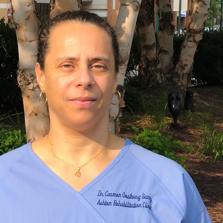 Carmen Oostburg Sanz, DC | Ashton Rehabilitation Clinic, Silver Spring, MD
