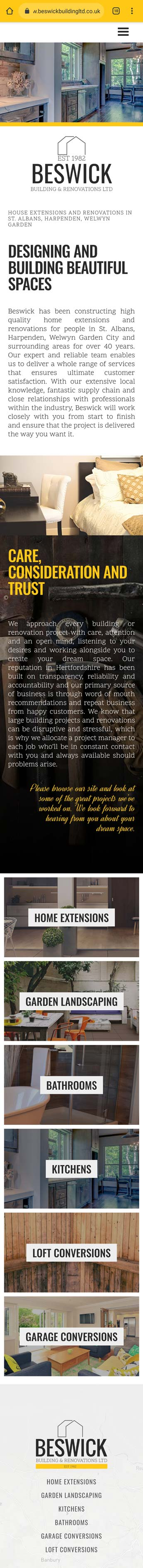 Construction industry website design image