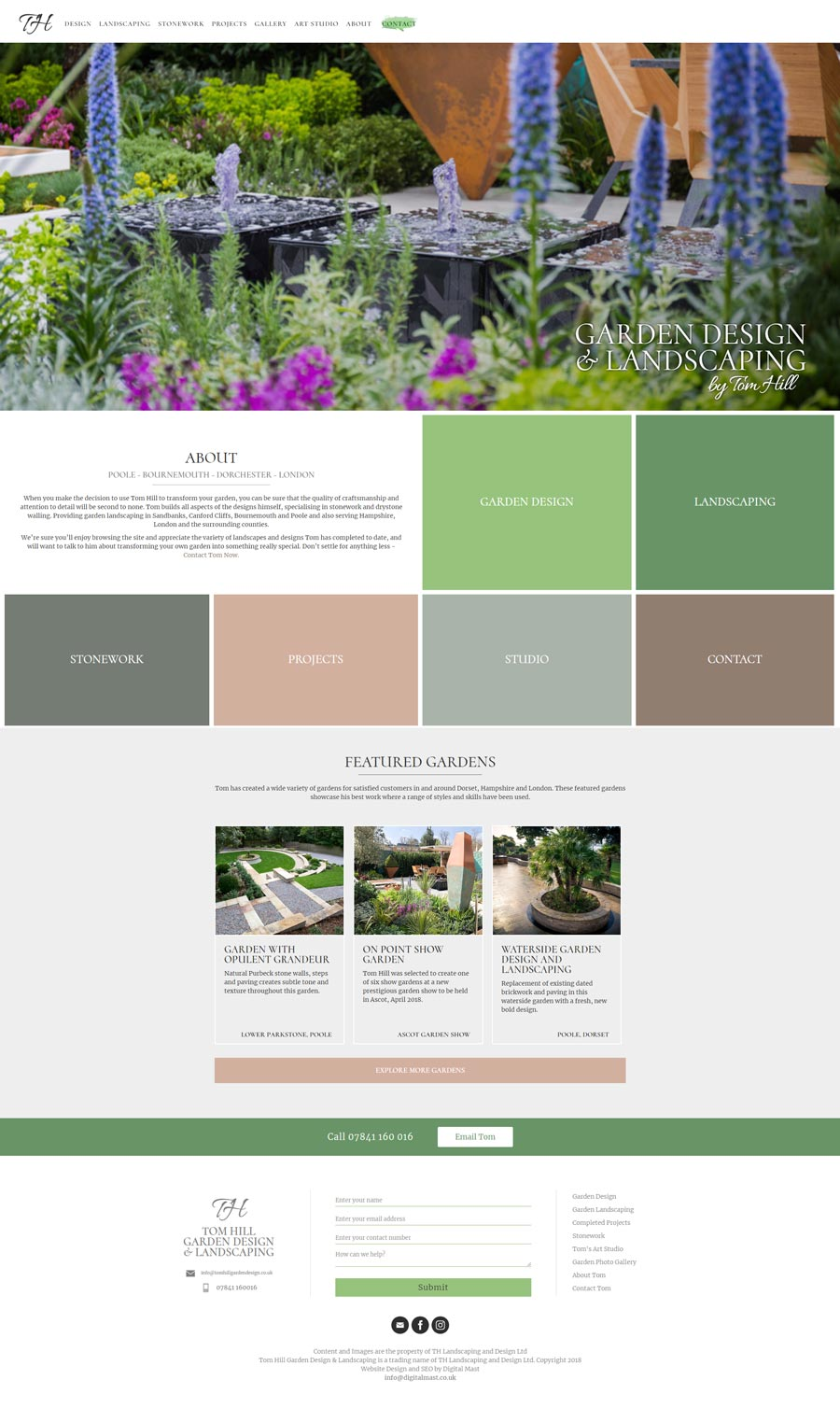 Garden Design and Landscaping Website Design