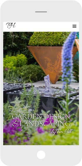 Garden website design mobile home page
