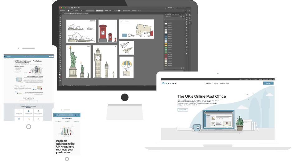 Digital Mast Website Design Mock Up