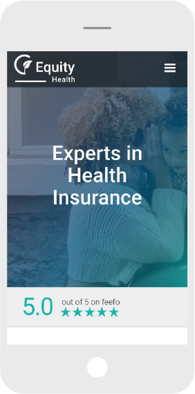 Mobile Screen Shot of insurance industry website design
