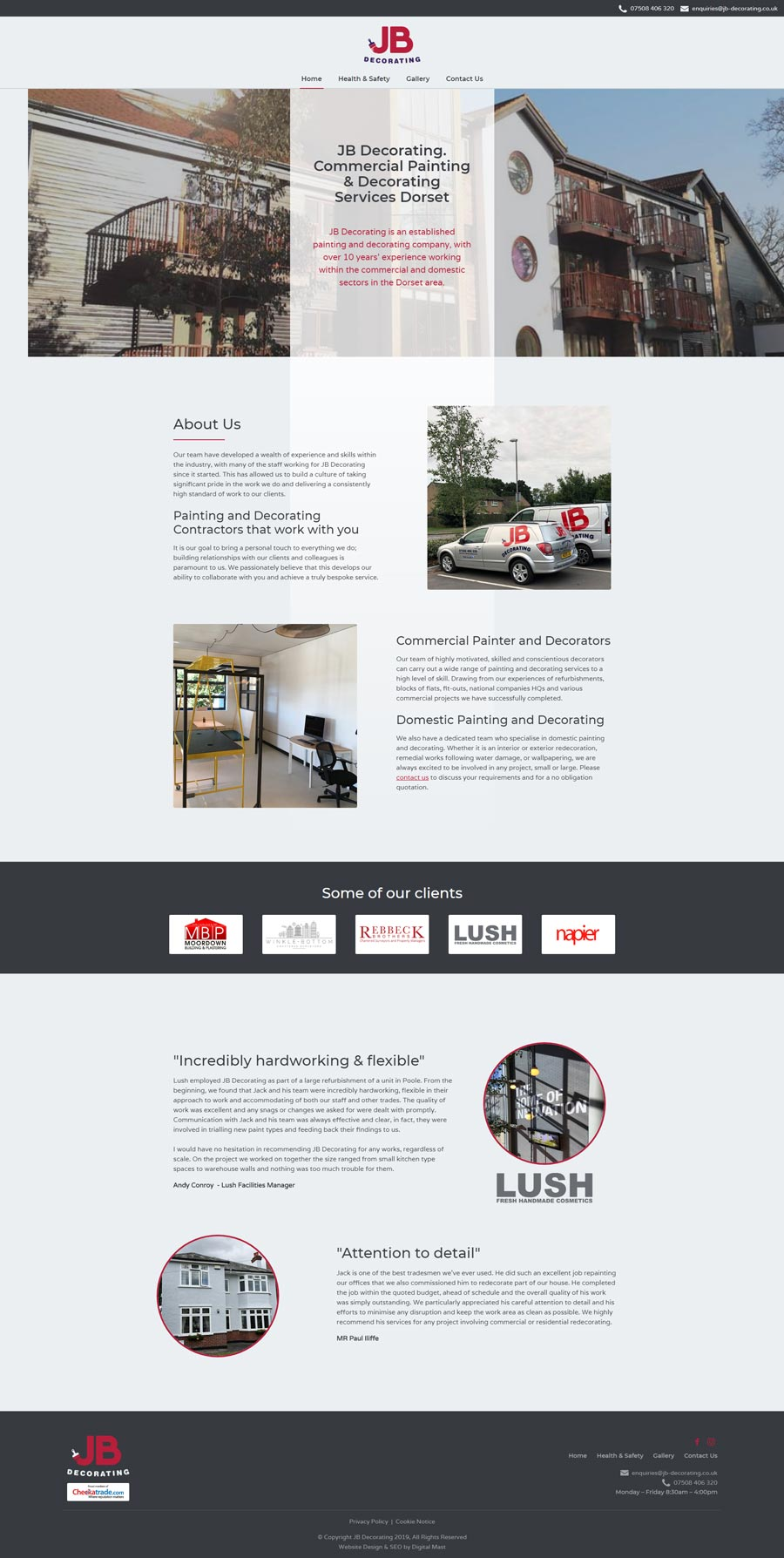 Commercial Painter and Decorator Responsive Web Design