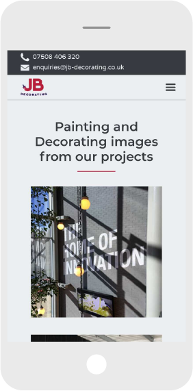Commercial Painter & Decorator Mobile  Web Design Screen Shot