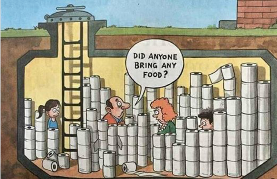 Toilet paper bunker comic