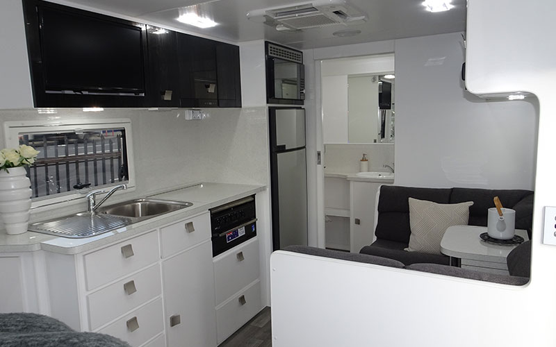 Spacious yet compact living area