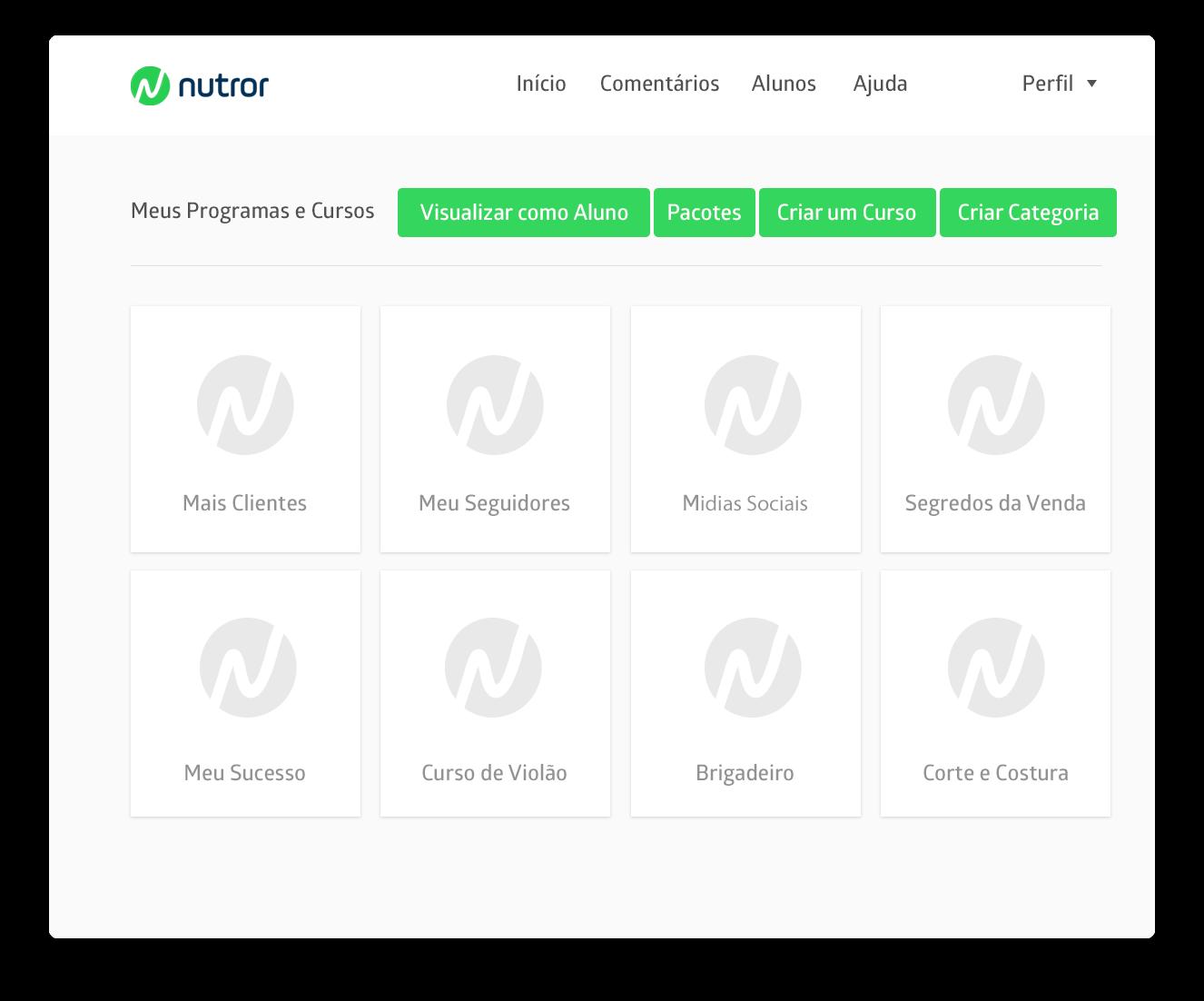 Nutror.com - O ambiente perfeito para receber seus alunos