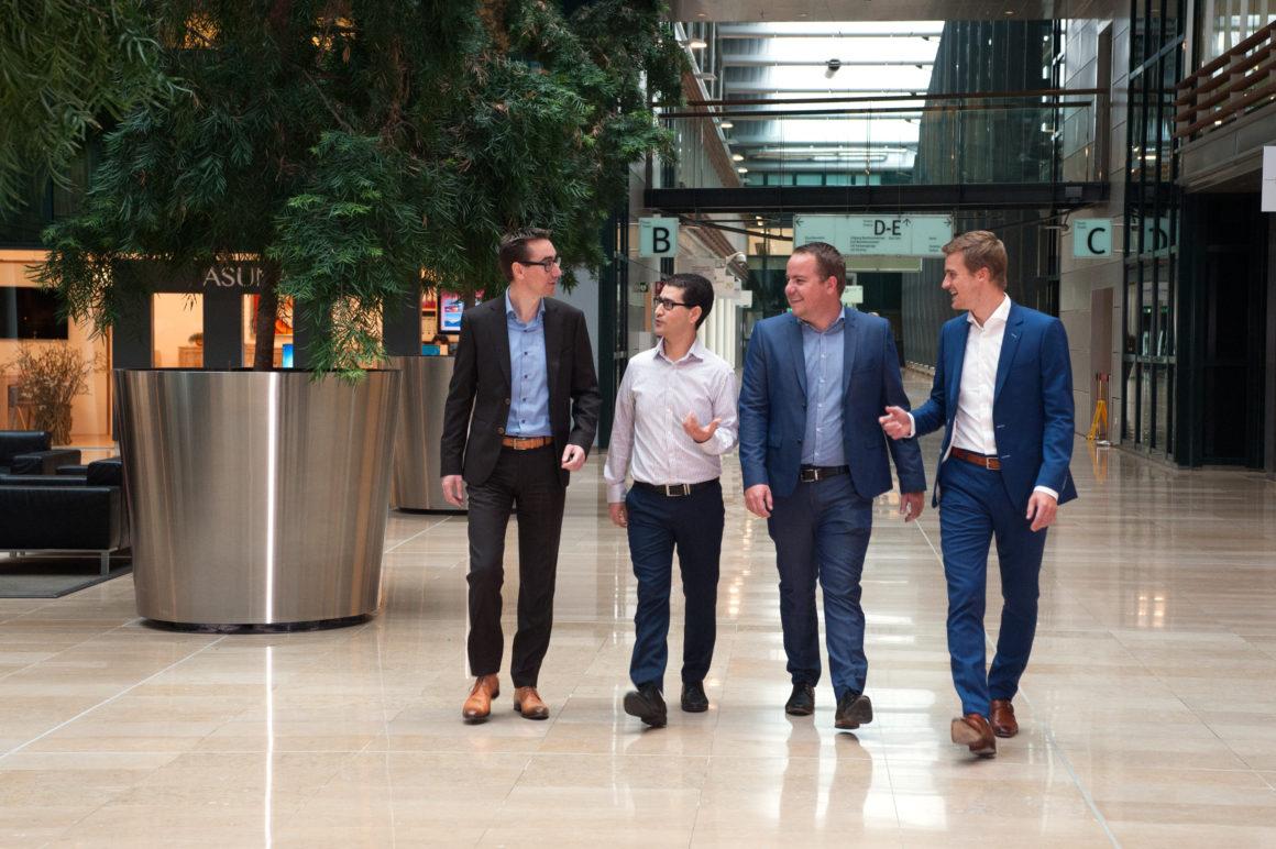 Patrick van Gerven, Najib Damghi, Stef Jansen in de Wal and Jethro van der Veer