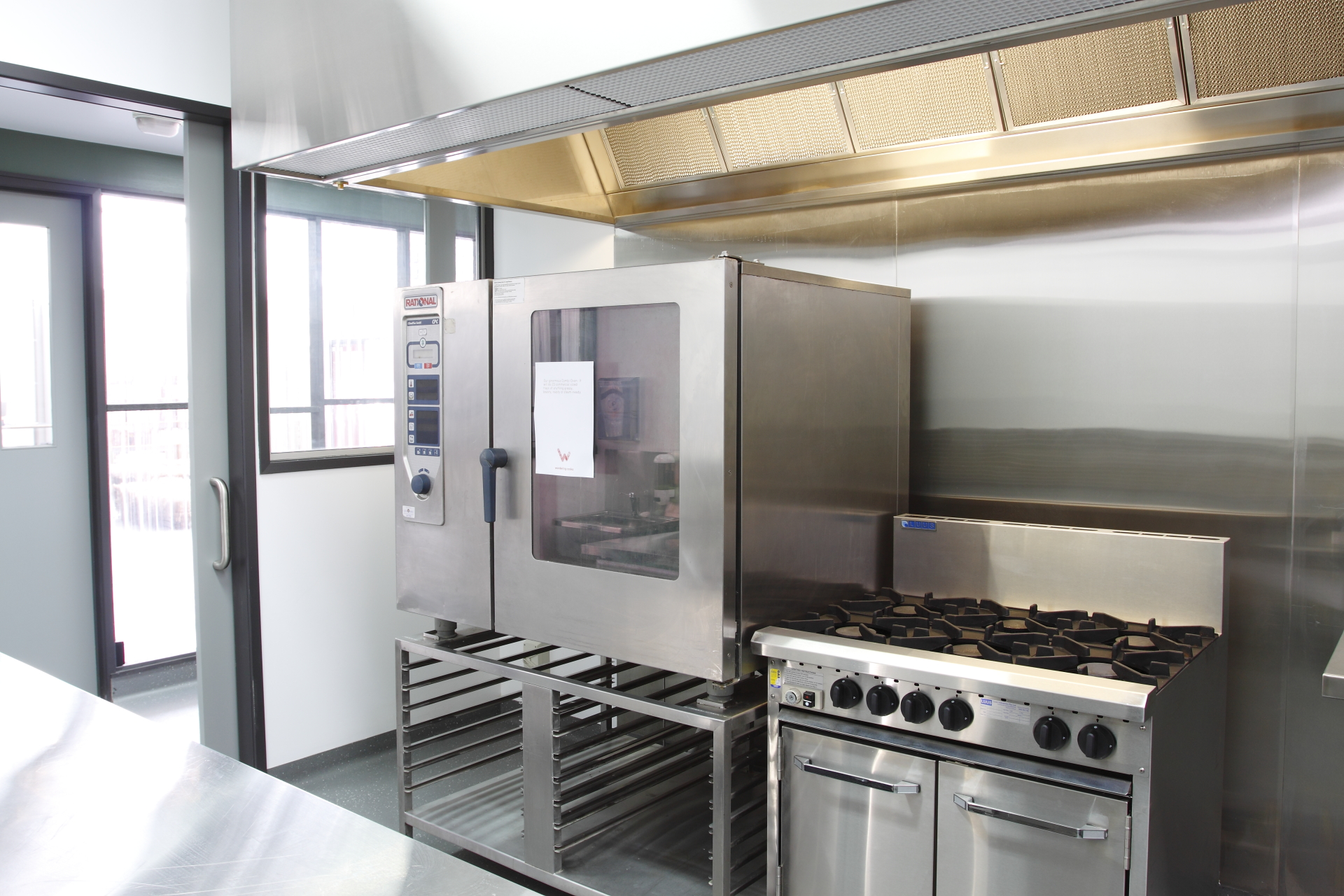 stainless steel kitchen fitout