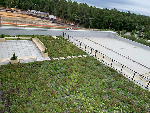 Green Roof - Living Roofs Inc - NHC Health and Human Services, NC - Public Green Roof