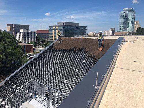 Green Roof - Living Roofs Inc - Durham, NC - Public Green Roof