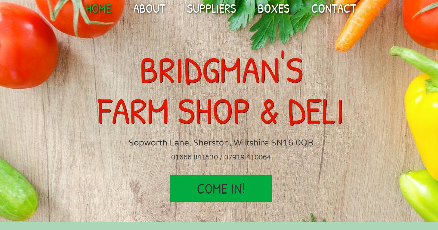 AllAbout Sites - Bridgman's Farm Shop