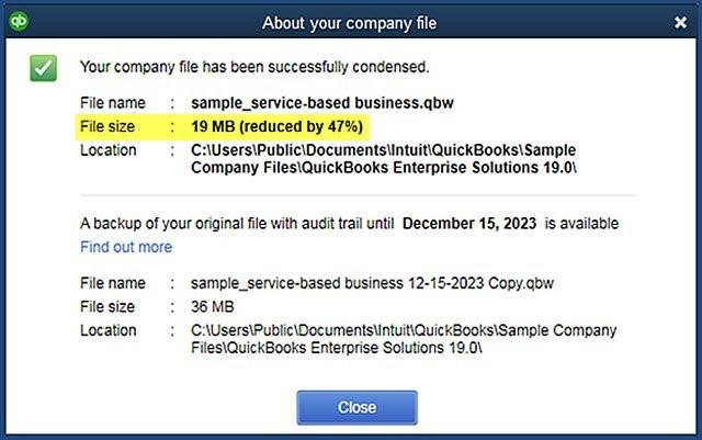 QuickBooks Desktop 2019 | Optimization of Data File | Exigo